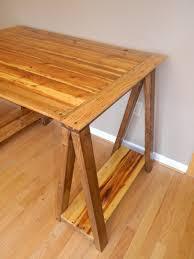 Plank Desk Ana White Sawhorse Desk Diy Projects