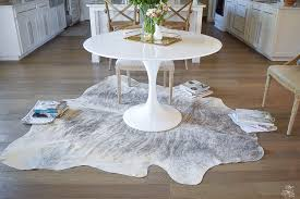 Grey Cowhide Rug How To Get The Curl Out Of A Cowhide Rug Zdesign At Home