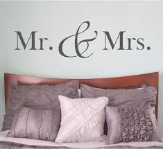 Bedroom Wall Decals Etsy Mr And Mrs Mr And Mrs Sign Mr And Mrs Wall Decal Bedroom