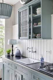 Red Color Kitchen Walls - kitchen blue gloss kitchen cabinets blue and gray kitchen ideas