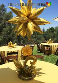 Elegant Balloon Centerpieces by Georgeous Gold Taper Centerpiece Balloon Centerpieces Wedding