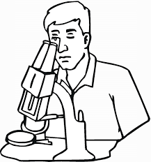scientist coloring page free scientist looking in microscope with