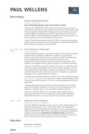 Product Manager Resumes Product Marketing Manager Resume Samples Visualcv Resume Samples