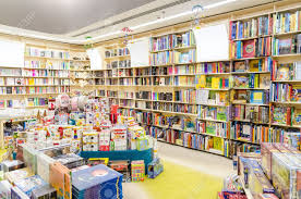 childrens book shelves library bookshelves with children books stock photo picture and