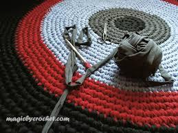crochet rug large round rug rag rug nursery rug large area rug