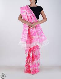dhaka sarees casual white dhaka cotton saree for online shopping unm19144