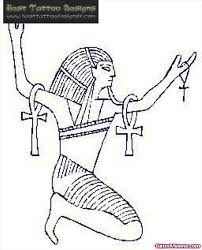 egyptian god with ankh tattoo design tattoo viewer com
