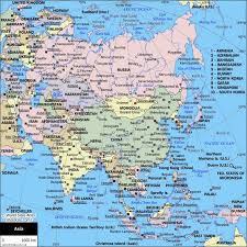 world map political with country names political map of asia maps asia destinations and city