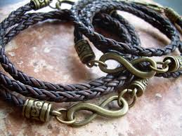 infinity braid bracelet images His and hers set of braided infinity bracelets with bronze jpg