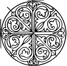 romanesque circular panel clipart etc
