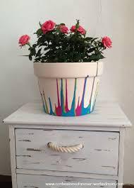 How To Paint A Vase Vintage Crackled Flower Pot Recipe Crackle Painting Decoupage