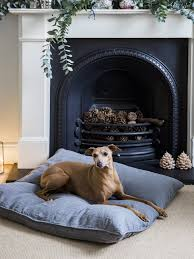 washable linen dog bed the linen works london