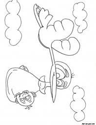 stork flying happy baby boy bundled coloring pages