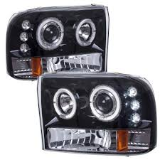 2002 ford excursion tail lights ford excursion 2000 2004 smoked halo projector headlights with led