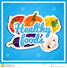 the stylish poster with a set of vector vegetables healthy foods