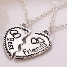 aliexpress heart necklace images Trendy bff broken heart necklace one half two halves best friends jpg