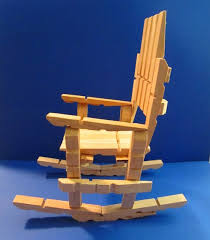 Chair Rocking By Itself Clothespin Rocking Chair So Easy To Make