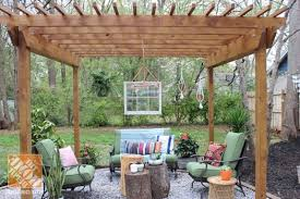 Home Depot Pergola by Backyard Makeover Pergola With Bohemian Style The Home Depot