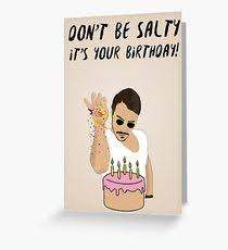 Meme Birthday Card - saltbae greeting cards redbubble