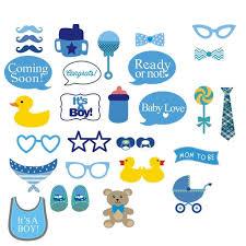 amazon com photo booth props nykkola it u0027s a boy baby shower party