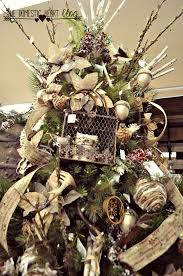decorate a christmas tree with burlap christmas lights decoration