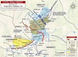 Map Of Jamestown Virginia by Battle Of Sailor U0027s Creek Civil War Sayler U0027s Creek Map