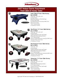 Air Hockey Table Dimensions by Binder1