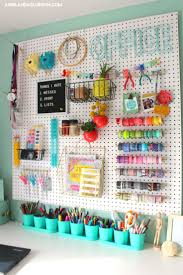 over 30 ways to organize with a peg board organizations board