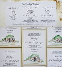 a peek into the studio watercolor and letterpress wedding
