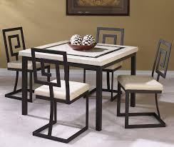 cramco inc maze 5 piece square table and side chair set wayside
