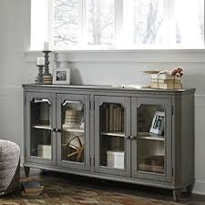 Ashley Furniture Hutch Mirimym Antique Grey Accent Cabinet Bernie U0026 Phyl U0027s Furniture