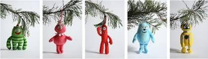 swissmiss yo gabba gabba tree ornaments
