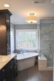 bathroom drum chandelier ceramic tile bathroom window