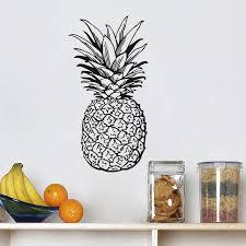 autocollant cuisine fruits alimentaire autocollant cuisine sticker ananas diy stickers