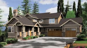 craftsman home plans sloping lots