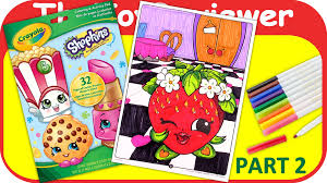 part 2 shopkins coloring book strawberry kiss crayola marker