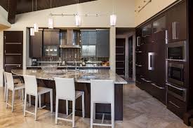 Kitchen Triangle With Island Denver Triangle Island Kitchen Modern With Brown Contemporary
