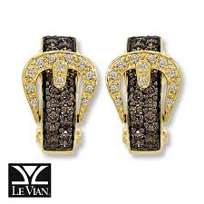 kay jewelers diamond earrings kay levian chocolate diamonds belt buckle earrings 14k honey