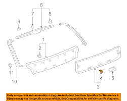lexus rx300 not starting lexus toyota oem rx300 liftgate tailgate hatch lower trim panel