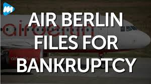 second berlin air berlin files for bankruptcy germany s second airline
