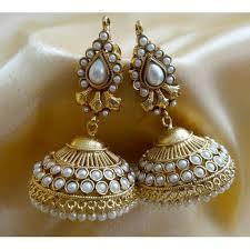 craftsvilla earrings buy ornativa pretty amazing kundan jhumka earrings by