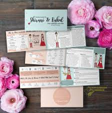 indian wedding programs indian wedding program invitation card ideas frugal2fab