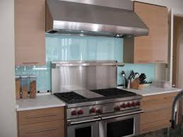 Glass Backsplashes For Kitchens Pictures River Glass - Custom stainless steel backsplash