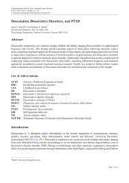 dissociation dissociative disorders and ptsd