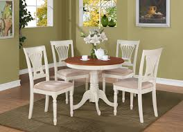 3 pc round small table kitchen table and two padded chairs