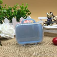 Suitcase Favors by Mini Travel Suitcase Favors Clear Plastic Storage Box Baby