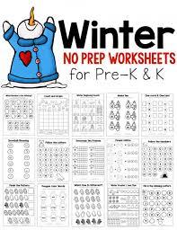 new winter theme pack for preschool u0026 kindergarten the