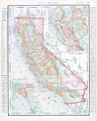 Map Of Central Usa by Vintage Map Of State Of California Usa 1900 Stock Photo Picture