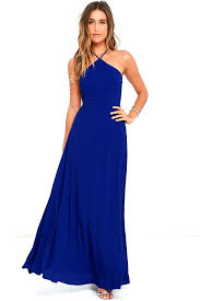 maxi dress royal blue dress backless dress 64 00
