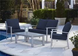 Aluminum Patio Table by Cosco Outdoor Products Cosco Outdoor Living 4 Piece Blue Veil